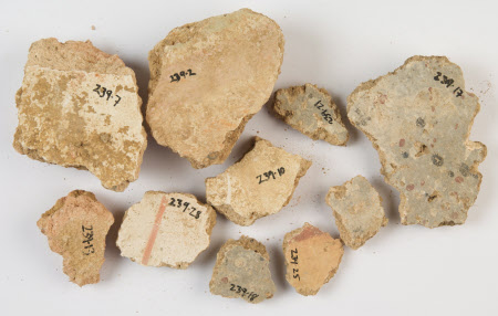 Wall plaster fragment