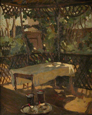 Two Glasses on a Verandah (after Sargent)