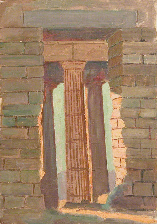 Doorway and Pillars In Shadow