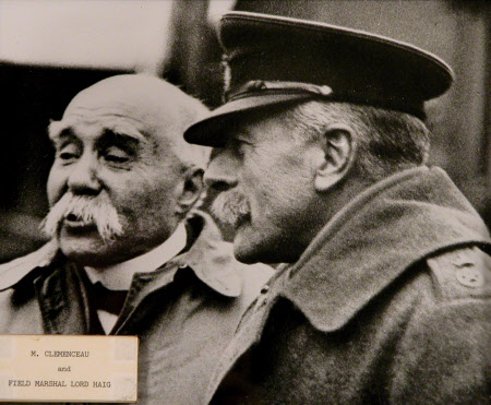 Georges Eugène Benjamin Clemenceau (1841-1929) and Field-Marshall Douglas Haig, 1st Earl Haig of ...