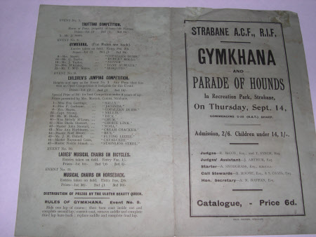 Gymkhana catalogue