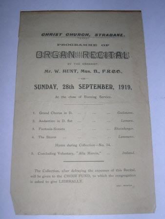 Recital programme