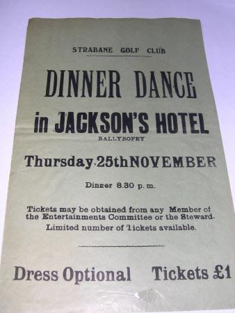 Dinner dance poster