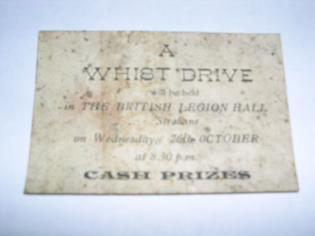Whist drive advertisement