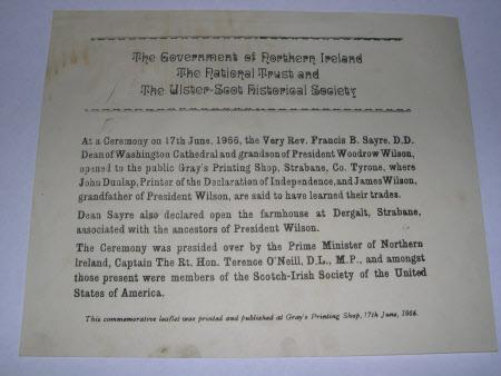 Commemorative leaflet