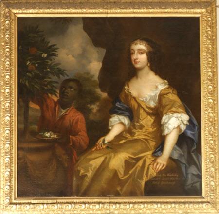 Lady Elizabeth Wriothesley, Lady Elizabeth Noel (d.c.1680) and an Attendant