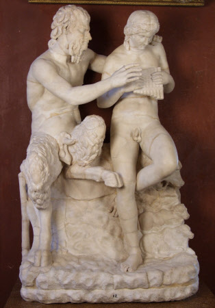 Pan and Apollo (or Marsyas and Olympos or Pan and Daphnis)