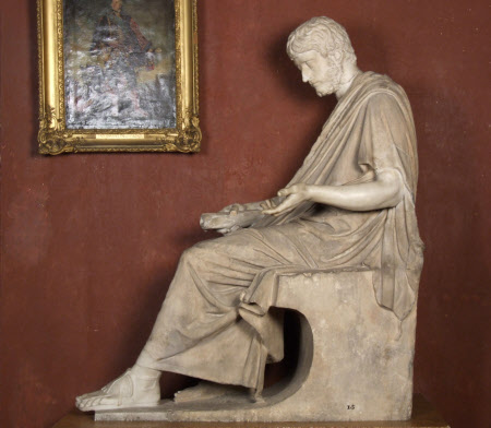 Seated Figure of a man (Meander) with the Head of the Emperor Gallienus, Emperor of Rome (c.213 - ...