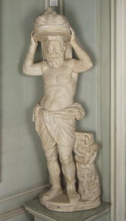 Statue of Seilenos Liknophoros