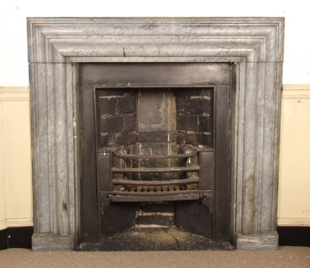 Chimneypiece with bolection moulding, Hertford Room, Petworth House, West Sussex