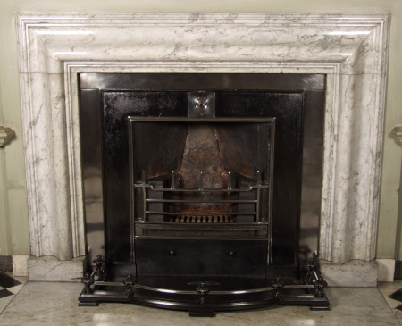 Chimneypiece, with bolection moulding, Marble Hall, Petworth House, West Sussex