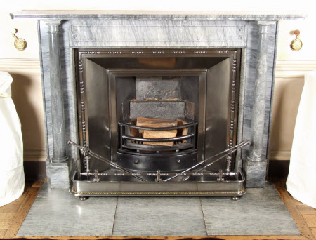 Chimneypiece with rounded pillars, Somerset Room, Petworth House