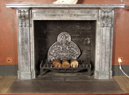 Chimneypiece with ornamental volute brackets, North Gallery, Petworth House