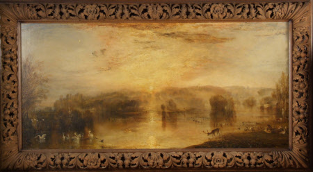 The Lake, Petworth, Sunset, a Stag Drinking (Tate title)
