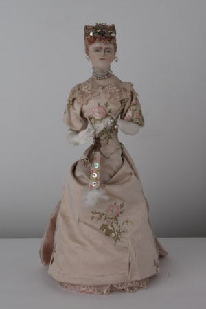 Rag doll representing Queen Alexandra (1844-1925)