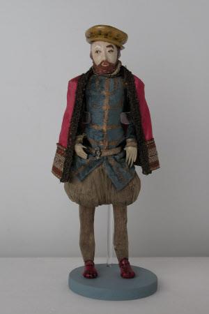 Plaster doll of King Henry VIII (1491-1547)