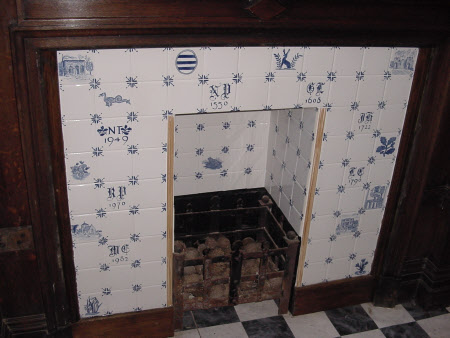 Chimneypiece, Cloakroom, Newark Park, Gloucestershire