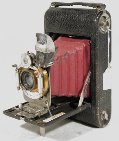 No 3 folding pocket Kodak, model E4, serial no. 33044-E