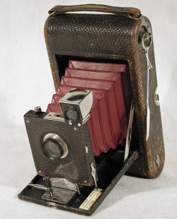 No 3 folding pocket Kodak, model A, serial no. 19733