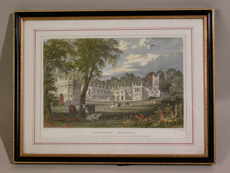 Lanhydrock House, Cornwall (after Thomas Allom)