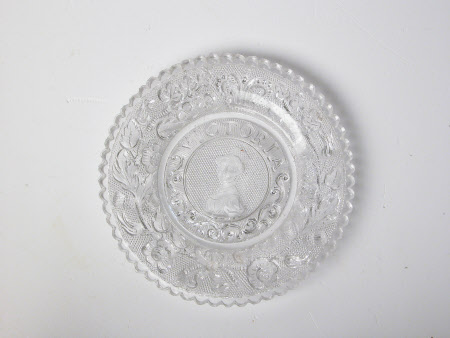 Moulded glass plate: Queen Victoria (1819-1901)