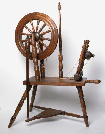 Horizontal spinning wheel