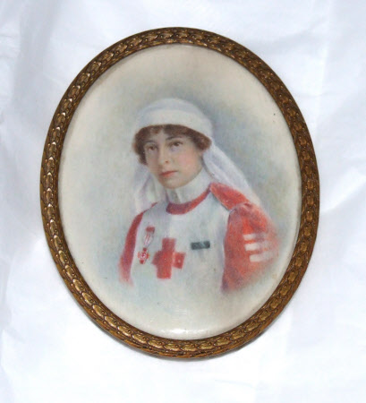 Violet Marcia Catherine Warwick Bampfylde, Countess of Onslow (d.1954) in her Red Cross Uniform