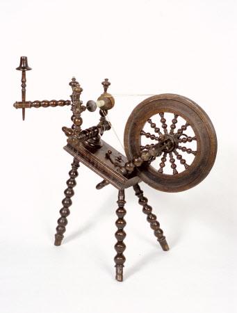 Sloping spinning wheel