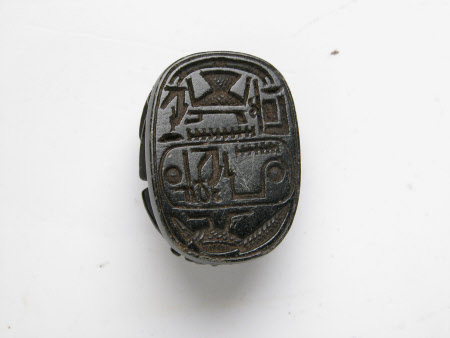 Scarab beetle with the cartouche of Pharaoh Rameses II, King of Egypt (c.1303-1213 BC)