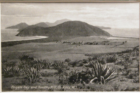 Frigate Bay and Trinity Hill, St Kitts, W.I.