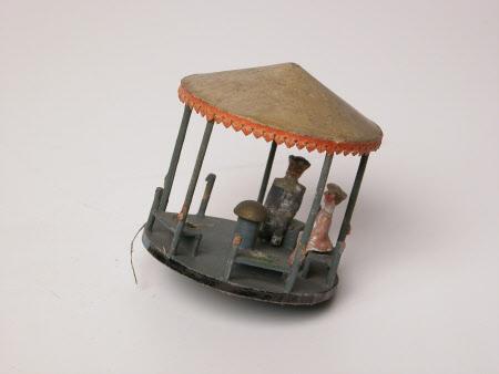 Carousel spinning top