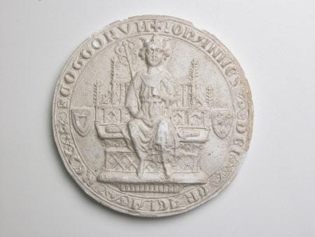 Plaster cast of seal of King John Balliol, King of the Scots c.1249-1314)
