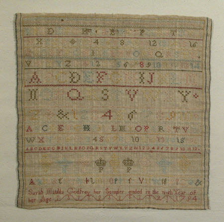 Sampler, Alphabets, Numerals, Crowns and Coronets