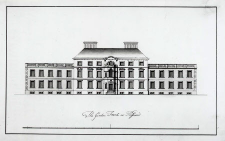 Proposal for the remodelling of the north, or garden, façade of Wimpole Hall, Cambridgeshire