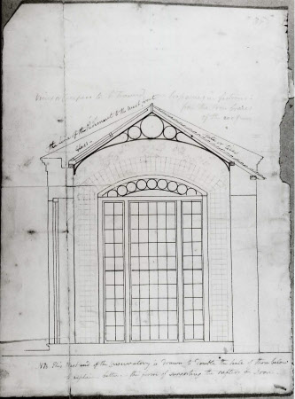 Proposed section of the Conservatory at Wimpole Hall, Cambridgeshire