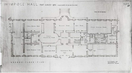 Part survey of the ground floor of Wimpole Hall, Cambridgeshire