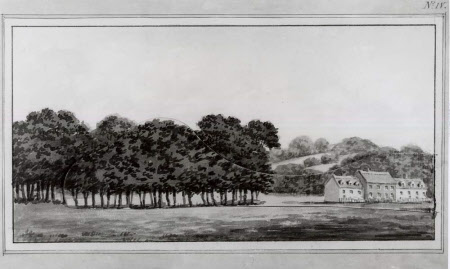 View of  'Brick End' Cottages at Wimpole, Cambridgeshire, Plate IV from the Wimpole Red Book