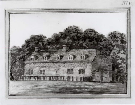 Proposals for 'cottages near the old kennel' at Wimpole, Cambridgeshire, Plate V from the Wimpole ...