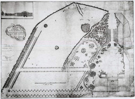 Proposal for the gardens and park to the north and west of the house at Wimpole, Cambridgeshire