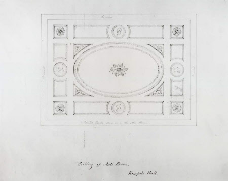 Design for the ceiling of the Ante-Room at Wimpole Hall, Cambridgeshire