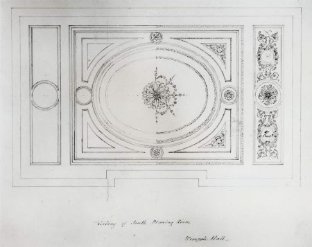 Design for the ceiling of the South Drawing Room at Wimpole Hall, Cambridgeshire