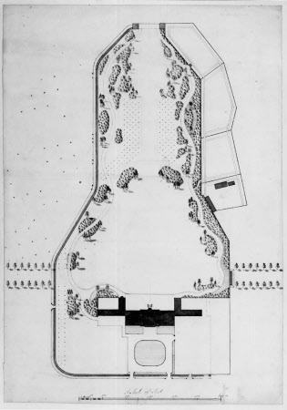 Proposal for the Gardens to the north of the house at Wimpole Hall, Cambridgeshire