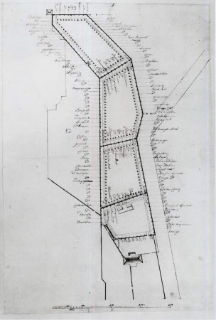 Proposal for a Walled Kitchen Garden to the North-West of the House at Wimpole, Cambridgeshire