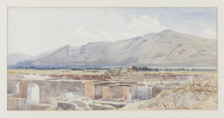 View of Pompeii from the Excavation Embankment