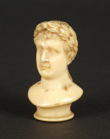Head of a walking stick: Emperor Napoleon I, Emperor of France (1769–1821)