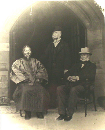 Left to right: Li Hung Chang (1823-1901), General Sir John Miller Adye, KCB, GCB (1819 – 1900) and ...