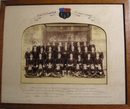 Group of boys in Rev Bowlby's House, Eton College, 1908 including William John Montagu ...