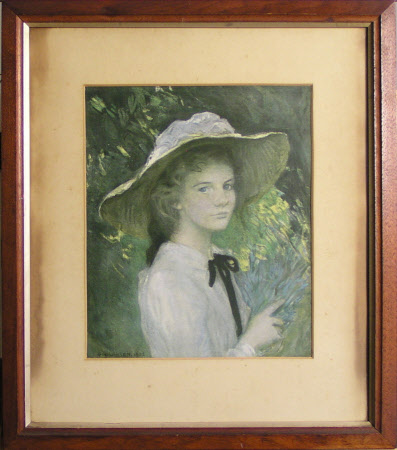 Young Girl in a Straw Bonnet