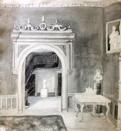 View from the Great Hall to the Staircase, Felbrigg Hall, Norfolk