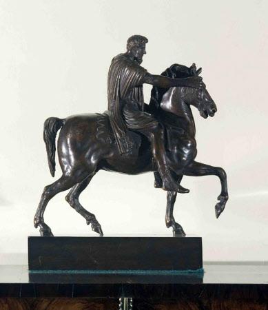 Equestrian Statuette of Emperor Marcus Aurelius, Emperor of Rome (121-180)